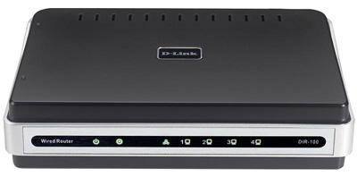 D-Link Broadband Router with 4 10/100  Ethernet ports (DIR-100)